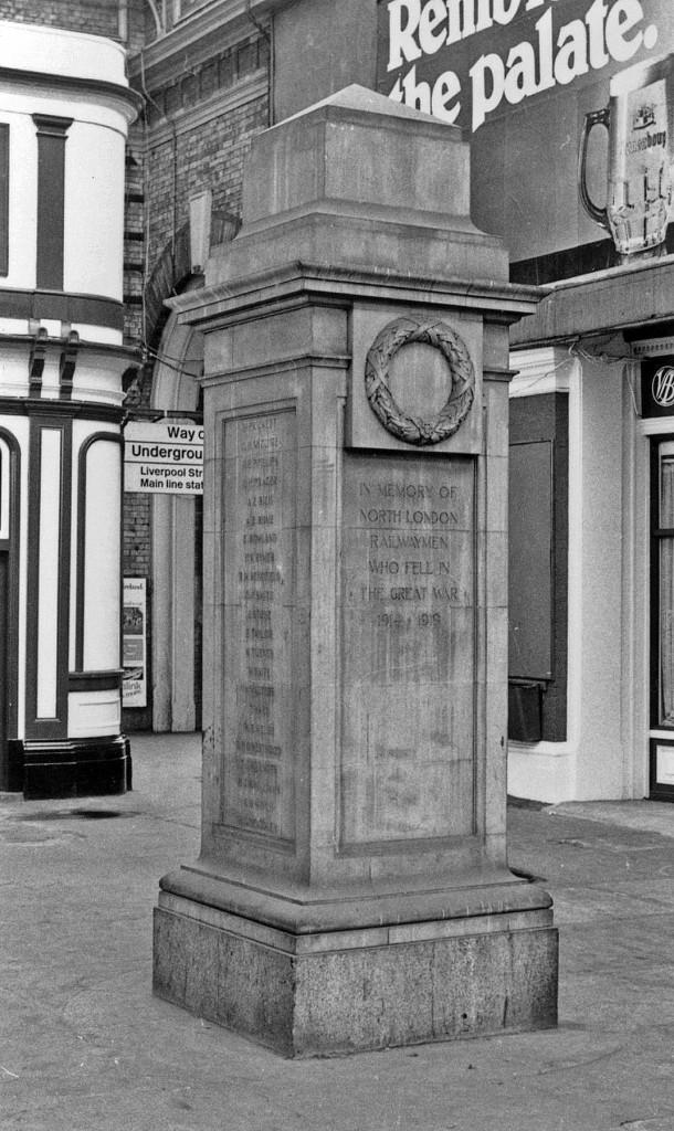 Memorial at Broad Street Station