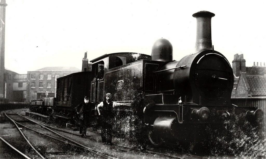 William Acton Gittins with engine
