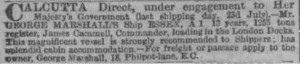 The London Standard, Wednesday, 15 Jul 1868, page 1, column 1, 2nd item]
